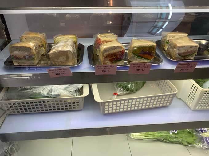 サンドイッチの店頭販売