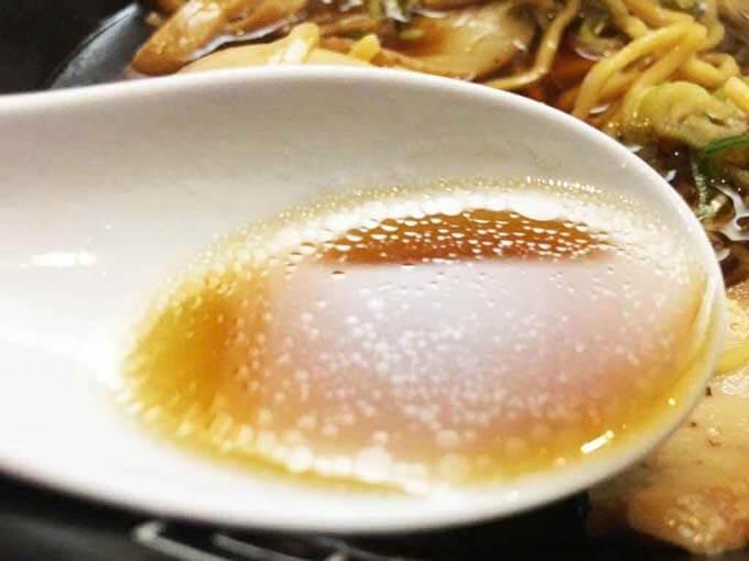 濃いめの醤油スープ