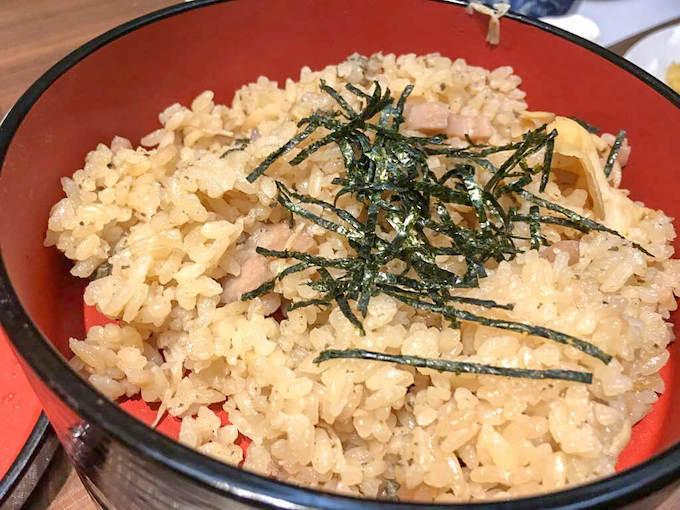 バイ貝の炊き込みご飯