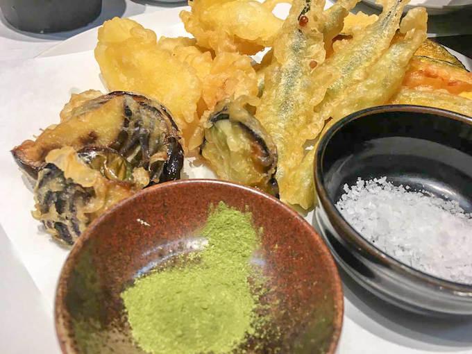 魚と野菜の天ぷら