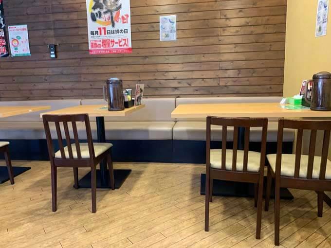 テーブル席 その1