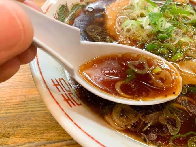 あっさり系の醤油スープ