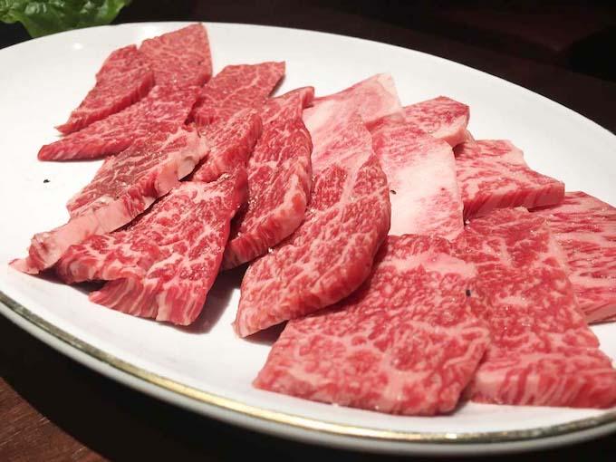 牛肉の盛り合わせ