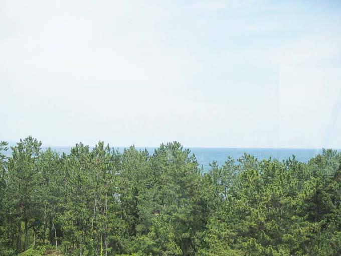 広大な富山湾を一望できる