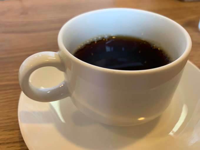 ブラックコーヒーでフィニッシュ