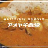 アオヤギ食堂 | カレーは店主こだわりの味「季節の食材を使った気まぐれカレーもおすすめ」