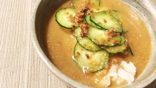 【無印 宮崎風 冷や汁】パンチのある魚介の味、暑い夏にピッタリの一品