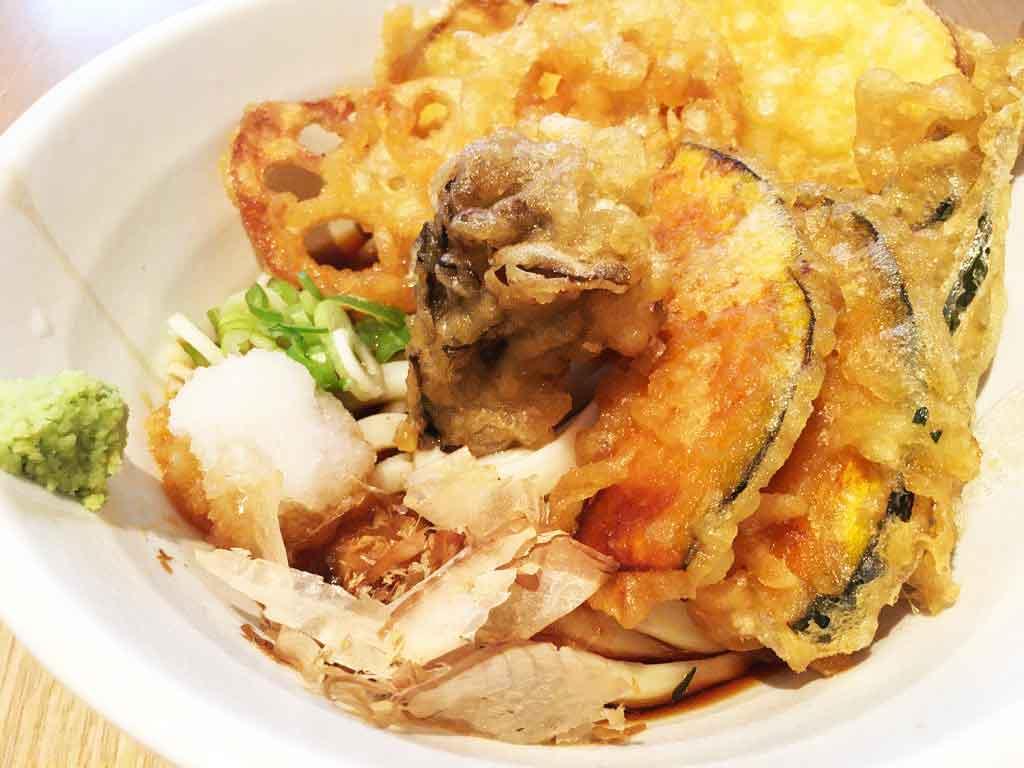【金沢製麺処】片町でうどんランチ、加賀野菜の天ぷらがうまい