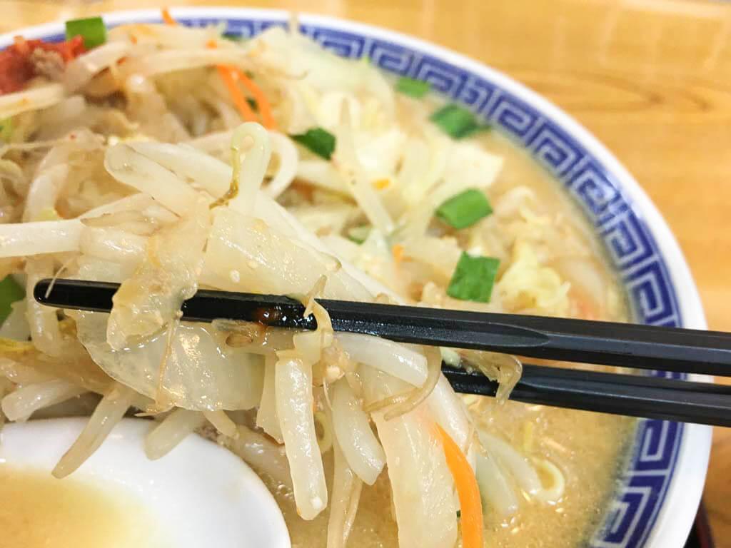 味噌らーめんの野菜炒め