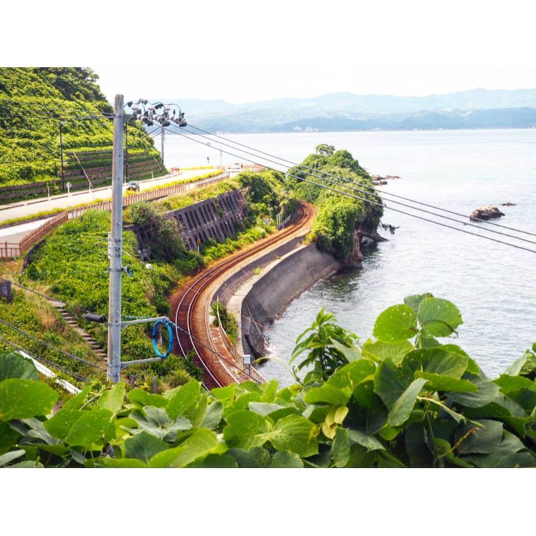 もみじ姫公園の高台から見える景色