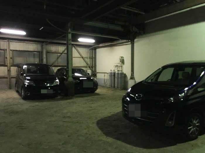 リストランテ リオの駐車場