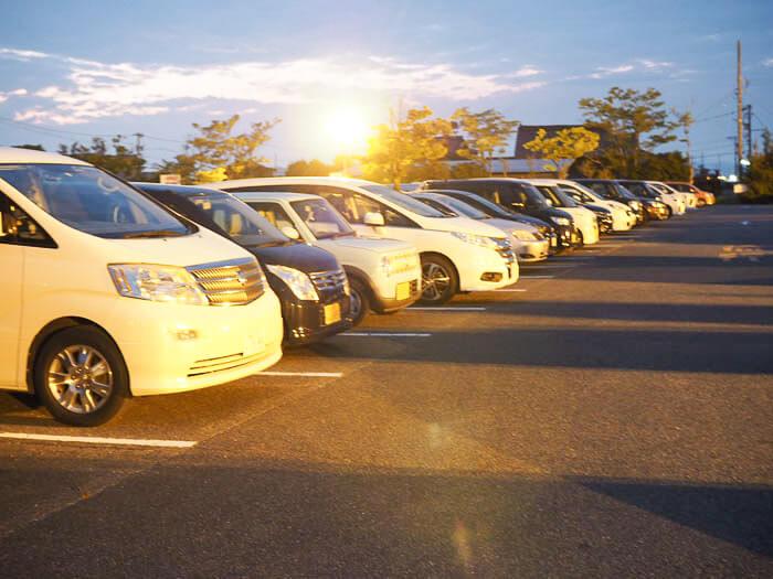 ファミリーパーク富山の駐車場