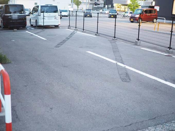 実際の駐車場