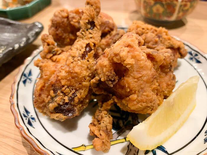 塩麹漬けの鶏の唐揚げ