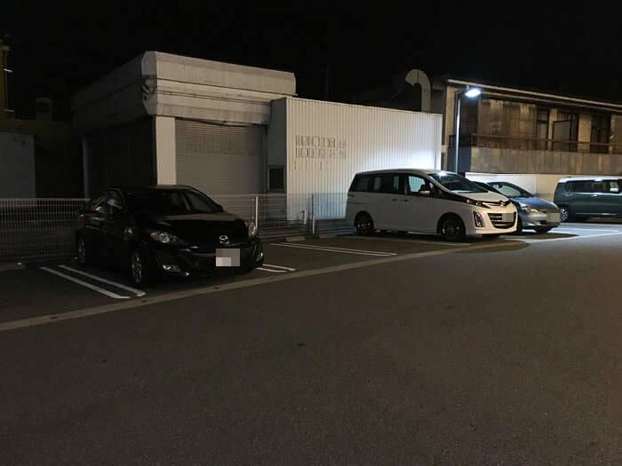 天下一品の駐車場