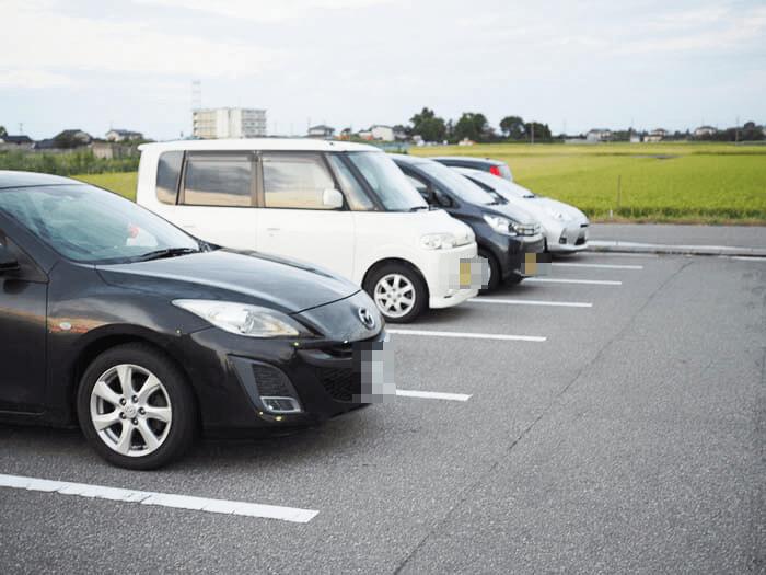 贅の駐車場