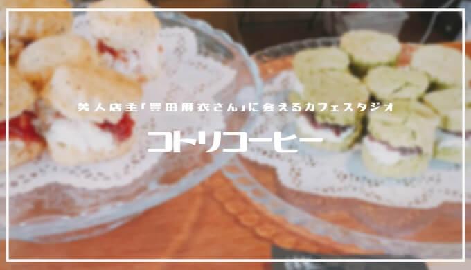 コトリコーヒー | 豊田麻衣さんの作る絶品スイーツ、スタジオ撮影もできるおしゃれ空間カフェ