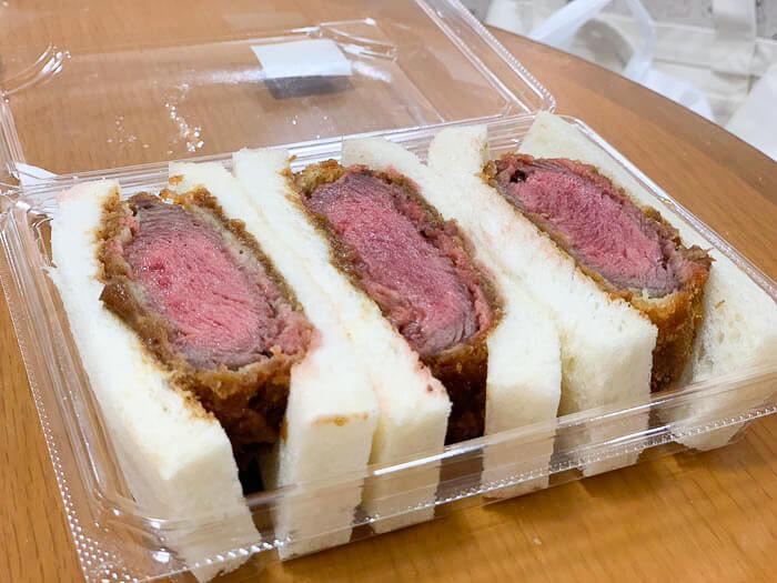 牛ヒレ肉のカツサンド