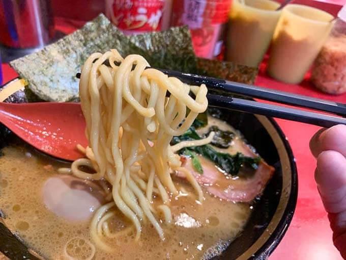 おいしい中太ストレート麺