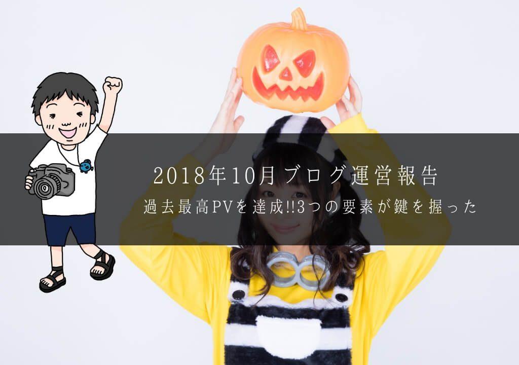 【ブログ】5万PVの過去最高を達成!!10月度の運営報告「3つの要素が鍵を握った」