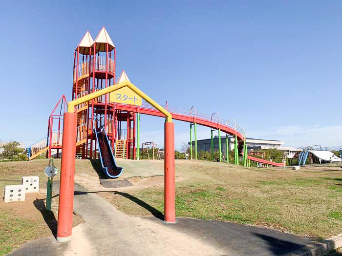 【歌の森運動公園 射水市】ジョギングもできる!!スゴロクがコンセプトの大型遊具が魅力的