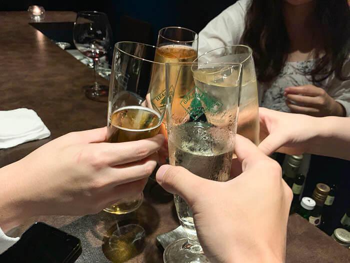 一緒に乾杯!!