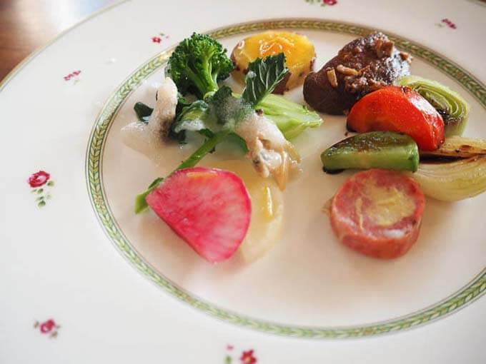 本格的な野菜を使った前菜
