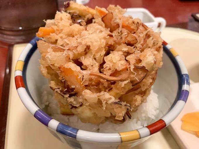 野菜かきあげ丼(ミニ)