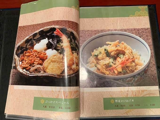 ぶっかけスペシャルと野菜かきあげ丼