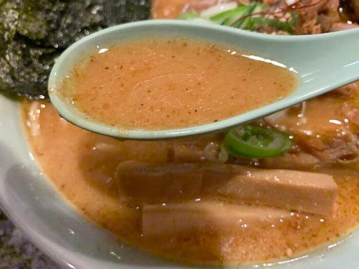 ピリ辛濃厚味噌スープ