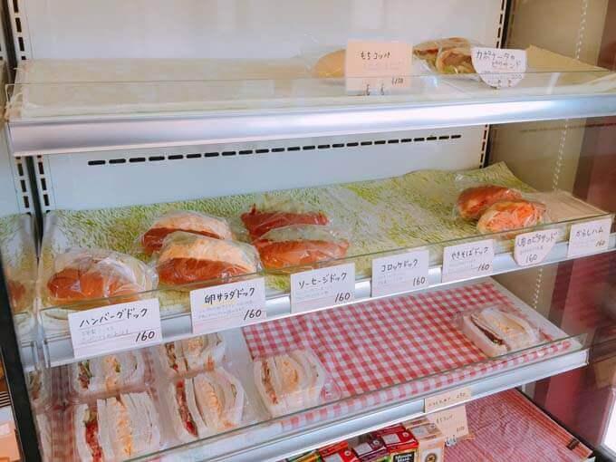 サンドイッチの種類も豊富