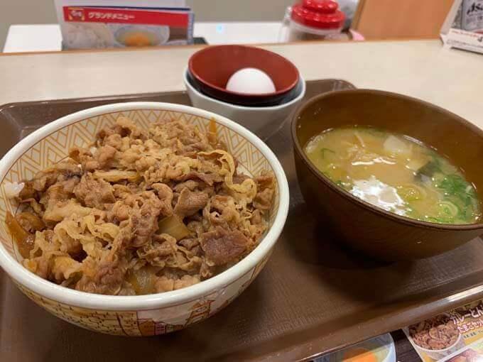 牛丼 カレー豚汁たまごセット