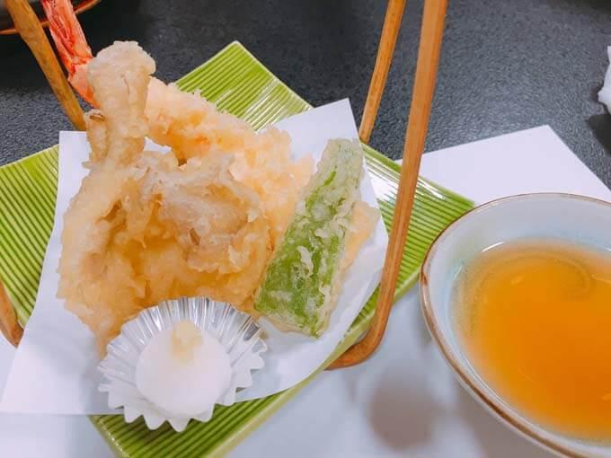 サクサクと揚がった天ぷら