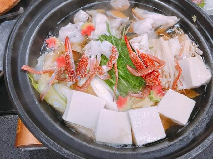 魚介と野菜たっぷりの鍋