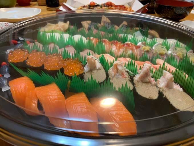 お寿司でお祝い