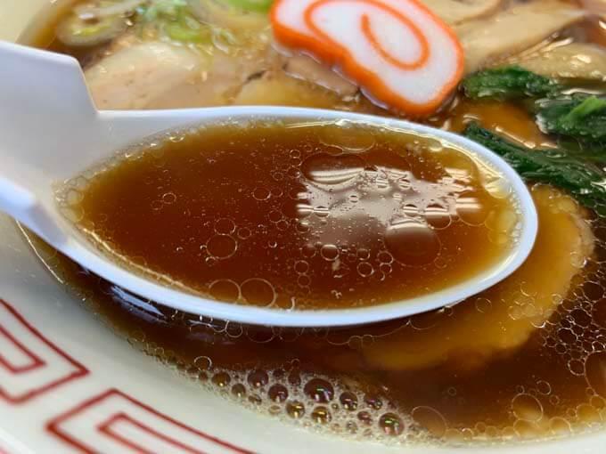 生姜の効いたあっさり醤油スープ