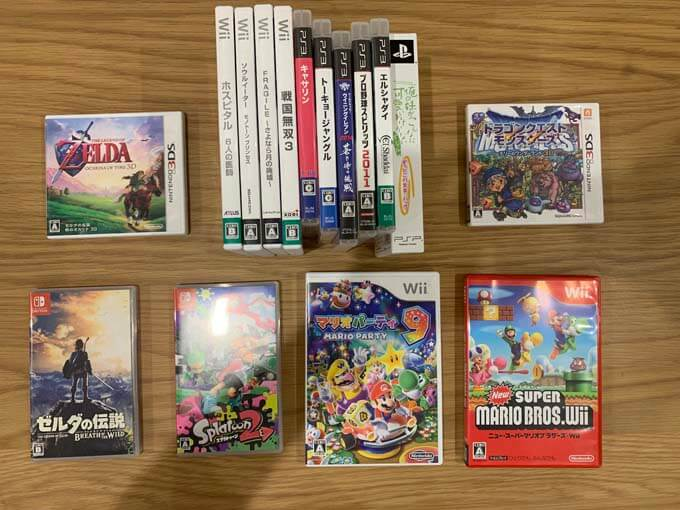 PS2やWiiのゲームソフトも買取可能