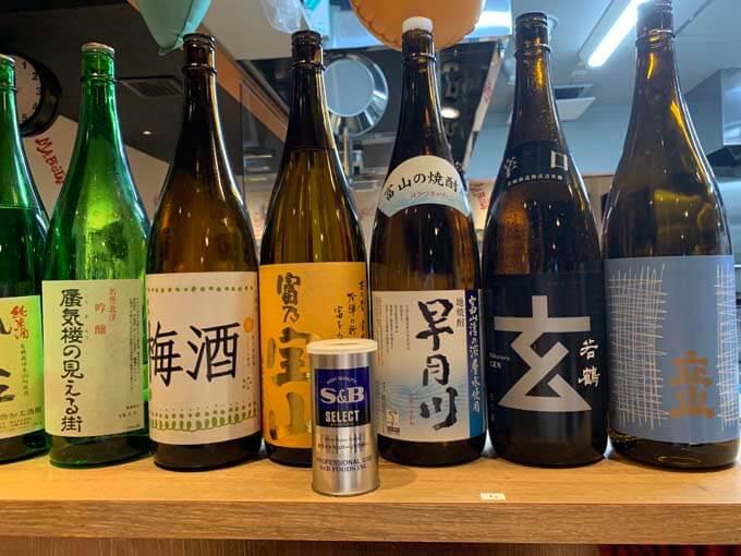 富山の日本酒がずらり