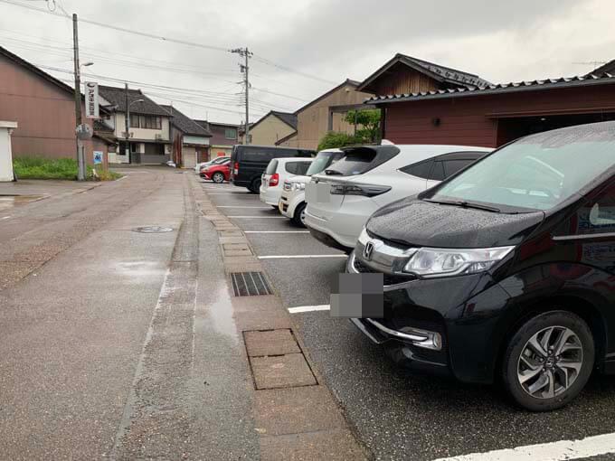 広めの駐車場